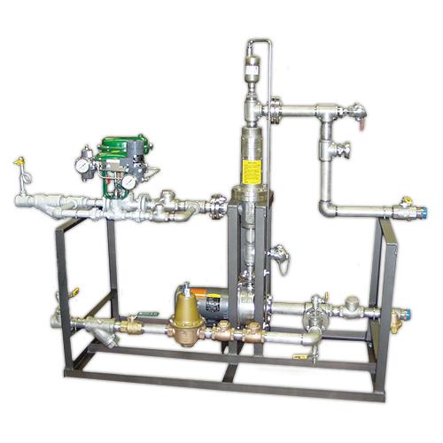 Sistemas de empaquetados de inyección de vapor: sistema de limpieza en el lugar