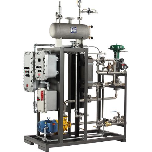 Sistema compacto de recipiente de reactor de calor y frío