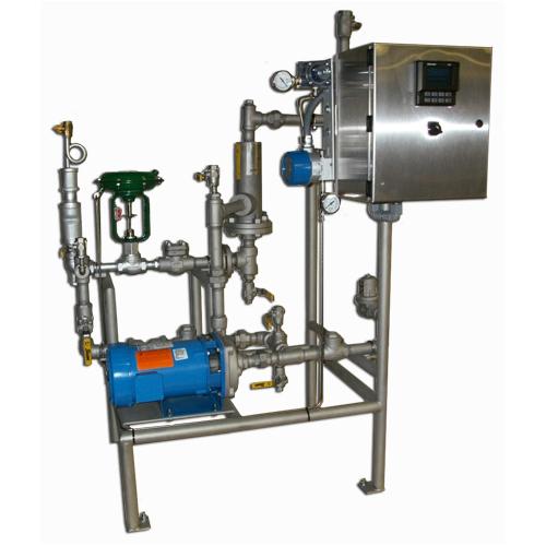Sistemas empaquetados de inyección de vapor: sistema de calentador de circulación de tubería de producto con camisa