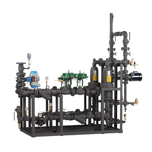 Sistemas empaquetados de inyección de vapor: estación de lavado / manguera con calentador de respaldo instalado